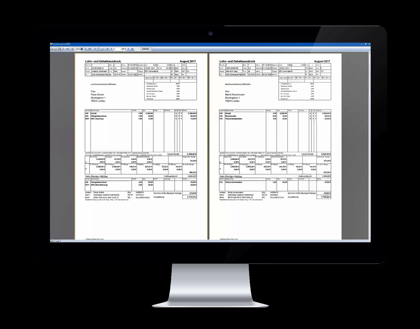 Alle Funktionen einer leicht zu bedienenden Software zur Lohnabrechnung