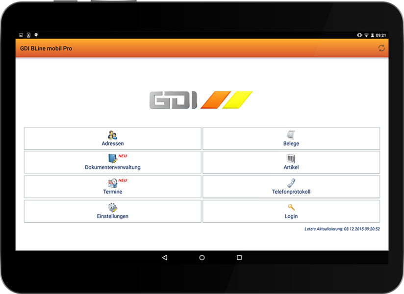 Noch mehr Features zur mobilen Nutzung der GDI Warenwirtschaft