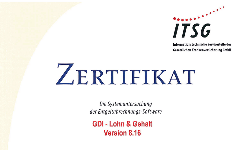 GDI Lohn & Gehalt erneut GKV-zertifiziert