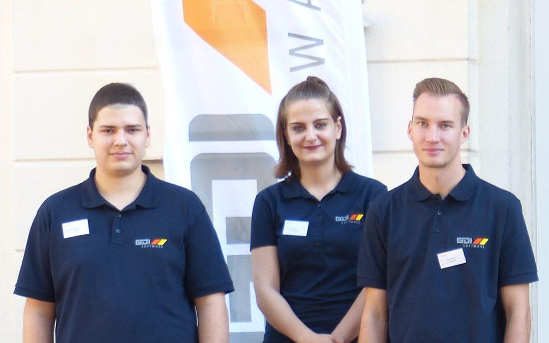 GDI Software begrüßt drei neue Azubis