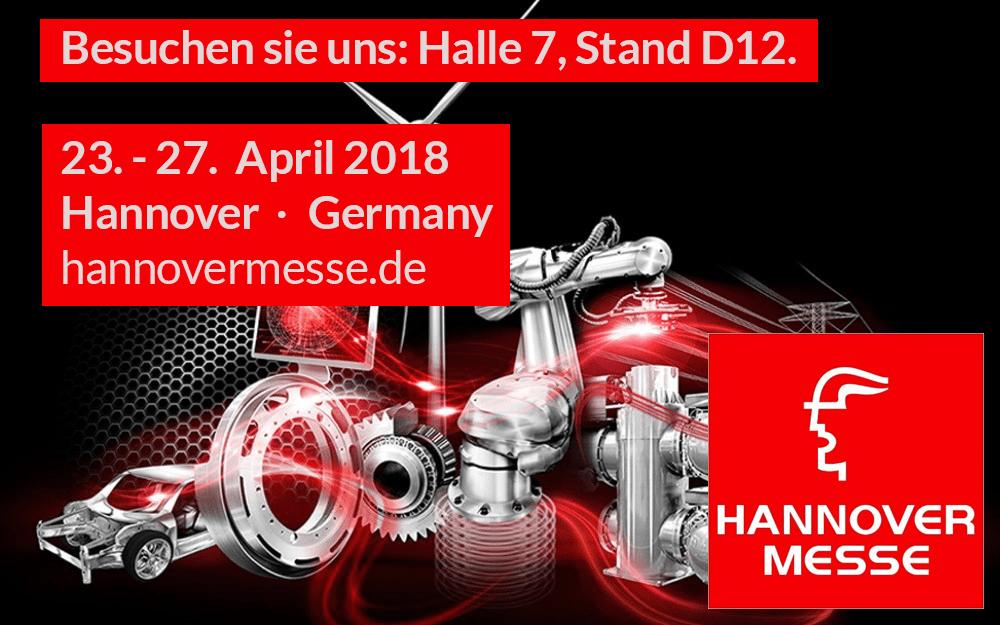 Besuchen Sie uns auf der Hannover Messe 2018