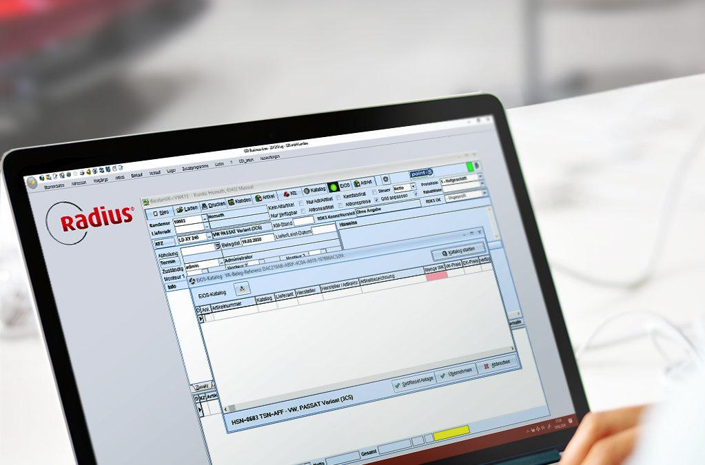 Neue Radius-Version mit integrierter Schnittstelle zu EiOS-Portal von Point S