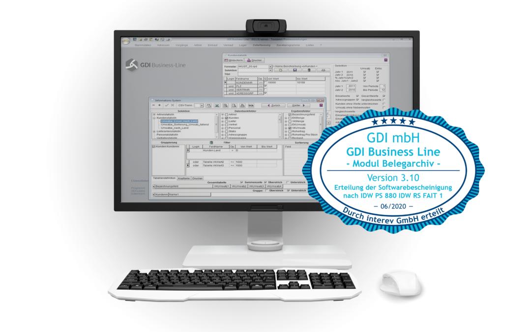 GoBD-konform arbeiten mit GDI Business-Line